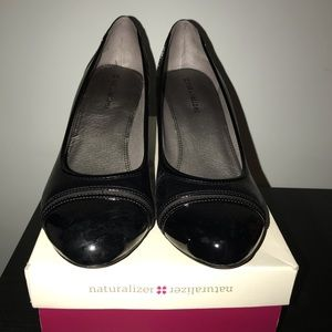Black Naturalizer Pumps 3 inch Heel Sz 10